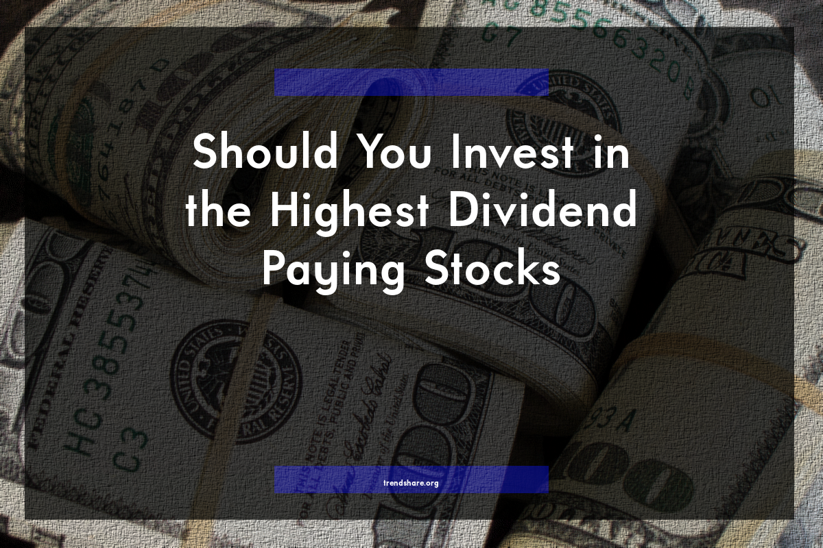Should you invest in the highest dividend paying stocks - High div stocks ...