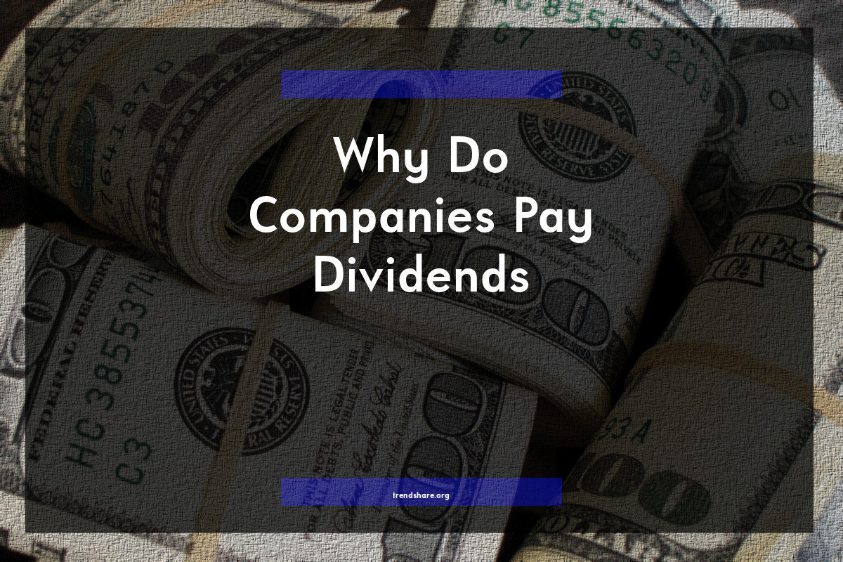 Why Do Companies Pay Dividends?